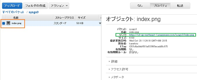 AWS S3 ファイル公開 WEB ホームページ サポート