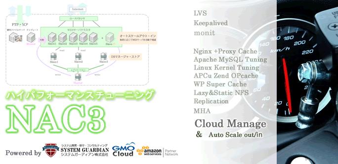NAC3 LAMPチューニング 高速 WordPress アダルトサイト AWS 大量アクセス サーバー Nginx キャッシュ