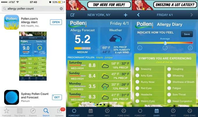 ニューヨーク NY 花粉症 アプリ