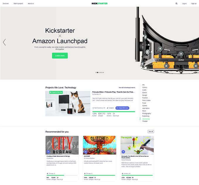 Kickstarter https://www.kickstarter.com/
