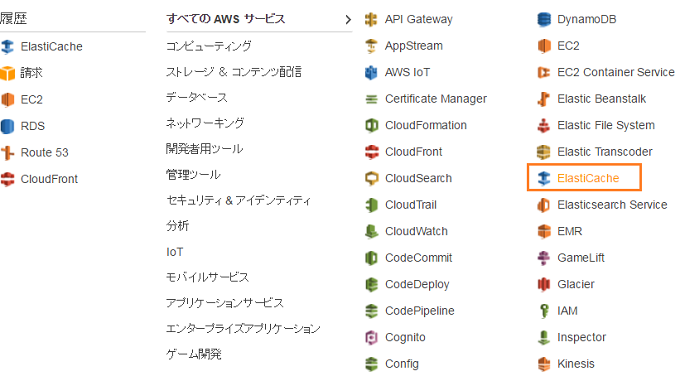 AWS ElastiCache セッション Redis KVS