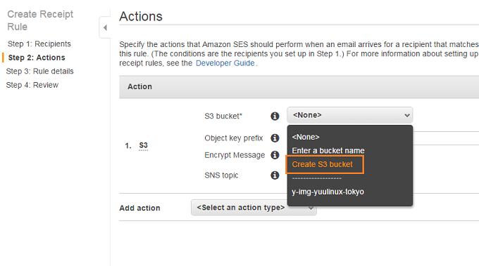 AWS SES メール認証 サーバ証明書 HTTPS Route53 S3
