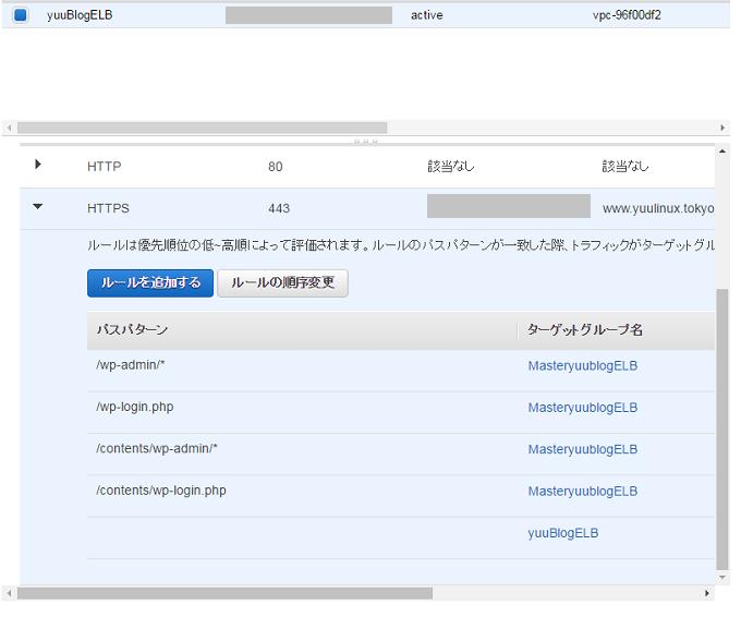 LB SSL HTTPS 俺俺証明書  AWS ルールの作成