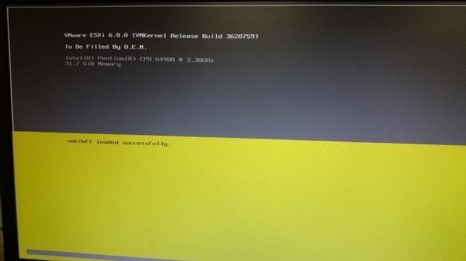 VMware ESXi構築 インストール