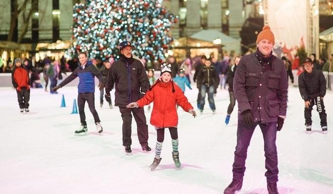 ニューヨークでアイススケートをしてみれば