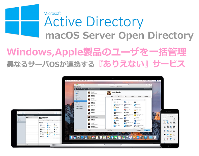 Active Directory Apple製品管理 Mac