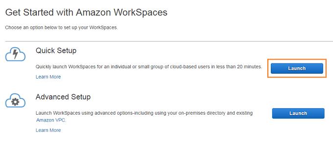 Amazon WorkSpaces シンクライアント