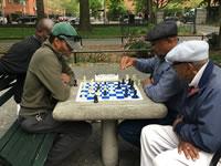 晴れた日には青空チェスをしてみよう ニューヨーク