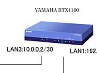 YAMAHA RTX1210, SWX2200, RTX1100で静的ルーティングしてみよう。