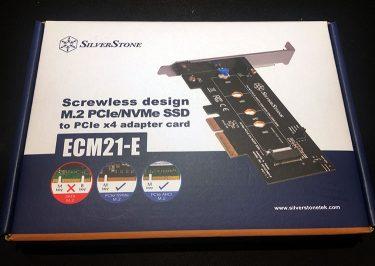 M.2接続SSDの複製環境としてSilverStoneのECM21-Eを買ってみました。