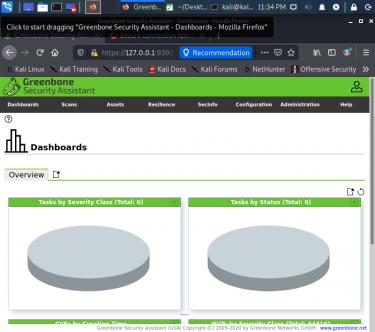 脆弱性スキャナー OpenVASの後継GVMをKaliに入れてみる。